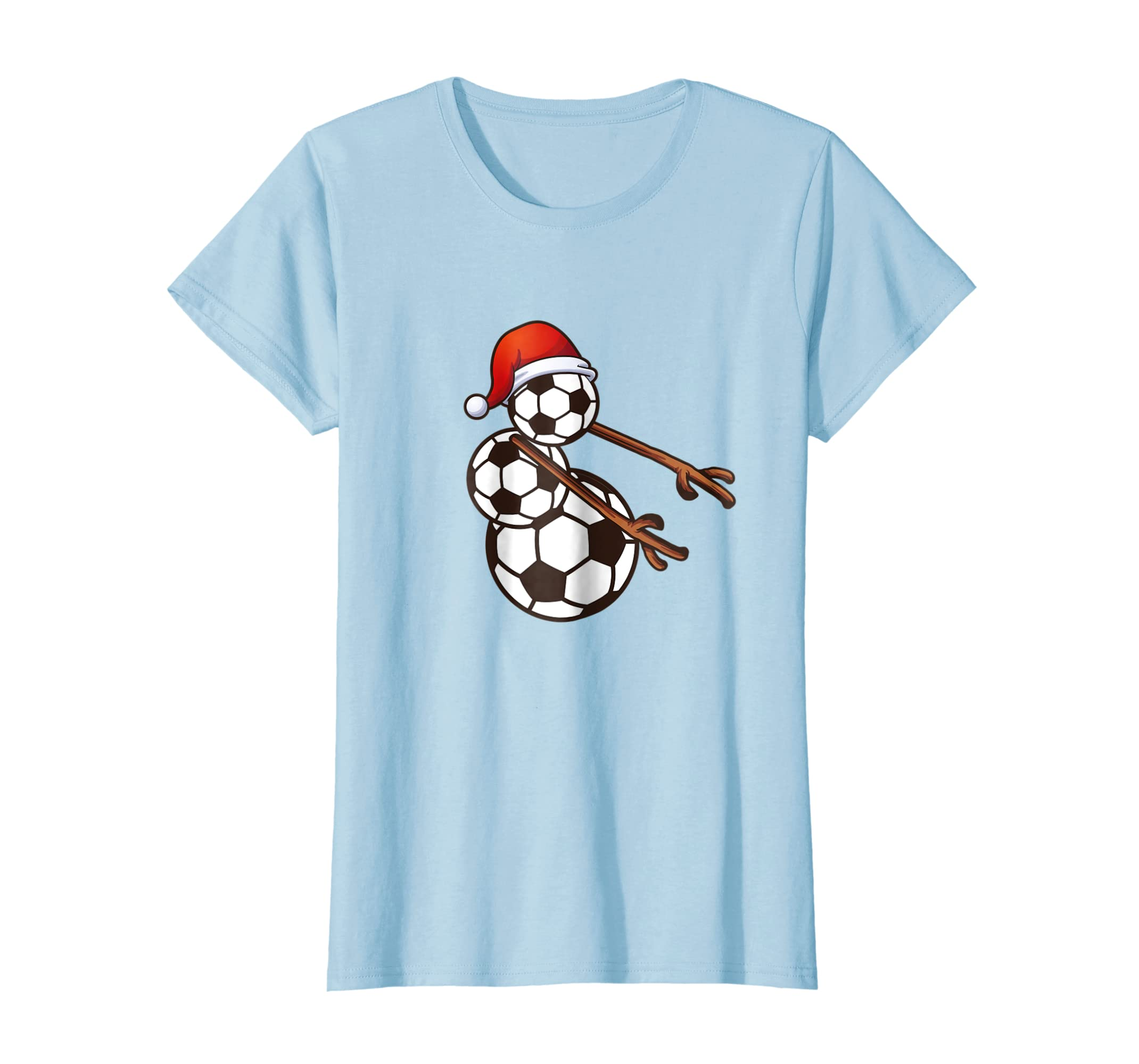 3ae00d82 Amazon.com: Flossing Snowman Soccer Christmas T-Shirt Gift: Clothing