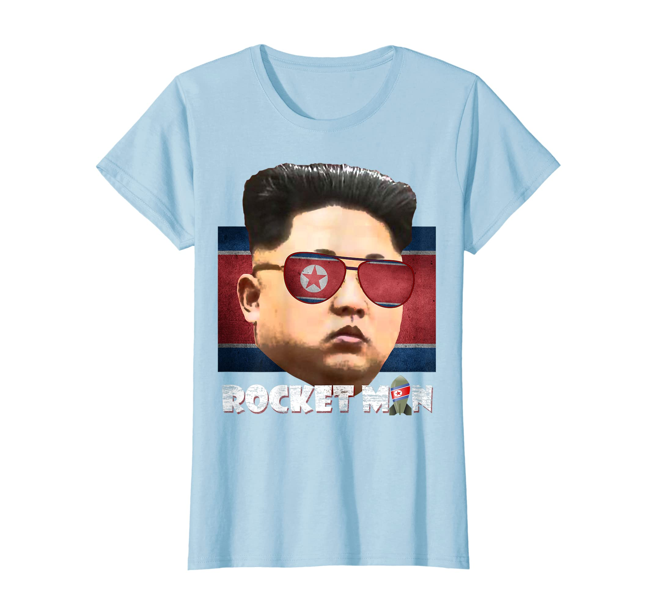 ef6a49a05 Amazon.com: Cool Rocket Man Kim Jong-Un T-Shirt: Clothing