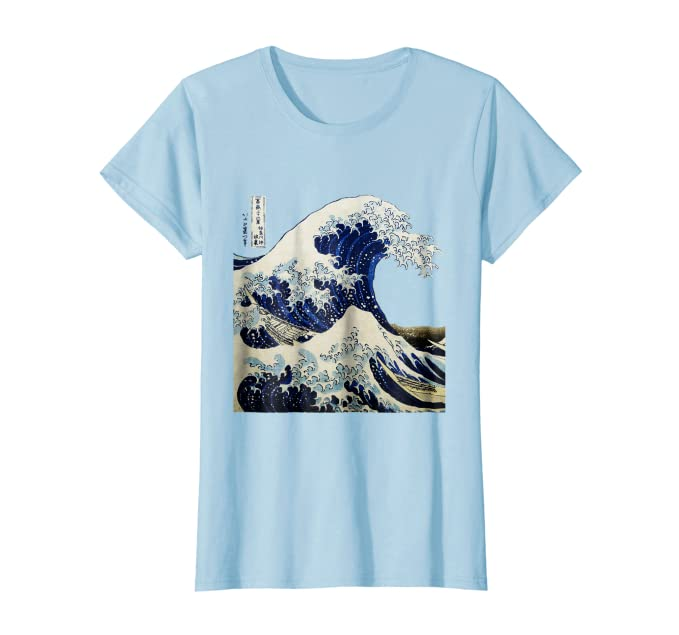 ad883cc44 Amazon.com: Kanagawa Japanese The great wave T shirt: Clothing