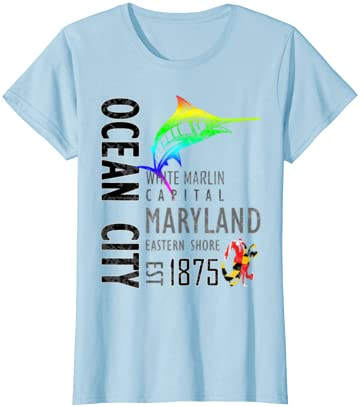 Ocean City Maryland White Marlin Capital Eastern Shore T-Shirt