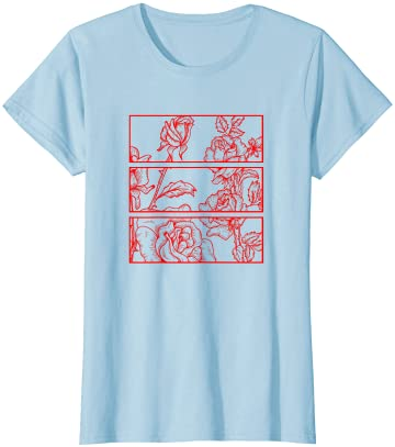 Red Roses Aesthetic Clothing Soft Grunge Clothes n Girls T-Shirt