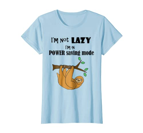 9bd98768d Amazon.com: Smilenowtees Funny Sloth in Power Saving Mode T-shirt: Clothing