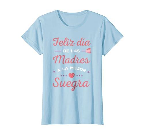 Amazon.com: Feliz Dia de Las Madres a la Mejor Suegra Regalo T-Shirt: Clothing