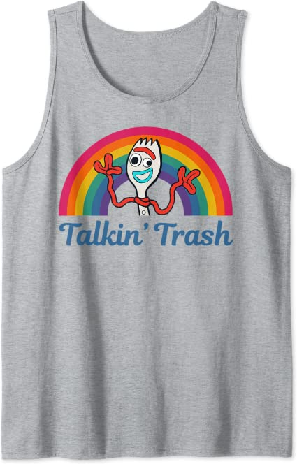 Disney Toy Story 4 Forky Juniors Womens Tank Top shirt Talkin Trash S M L XL