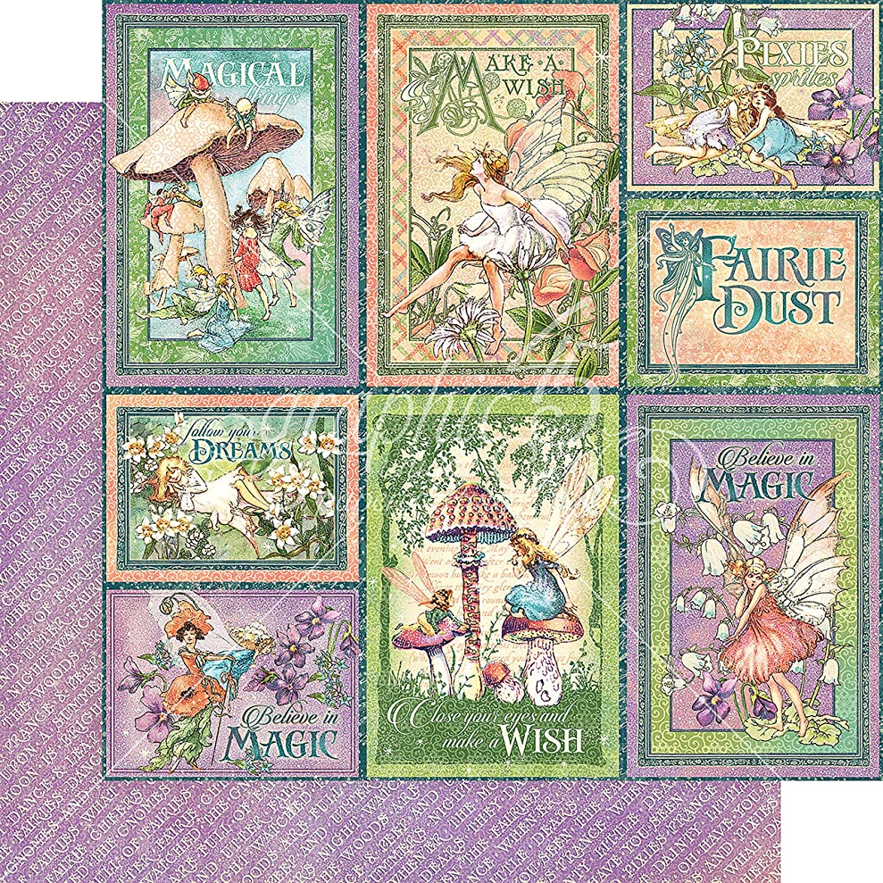 Graphic 45 Dreamland Fairie Dust Double-Sided Cardstock 12