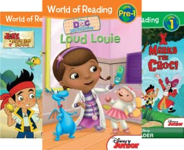 World of Reading Disney Junior Boxed Set: Pre-Level 1 - Purchase Includes Disney eBook! (6 Book Series)