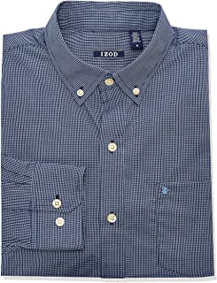 Men's Button Down Long Sleeve Stretch Performance Check...