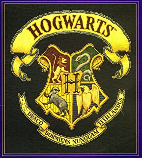 Harry Potter Tapestry Throw Blanket Hogwarts Crest 100% Cotton (WB 2000)