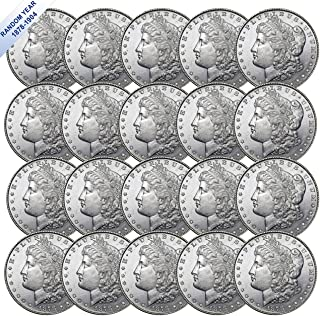 (1878-1904) Morgan Silver Dollar (BU) Twenty Coins Brilliant Uncirculated
