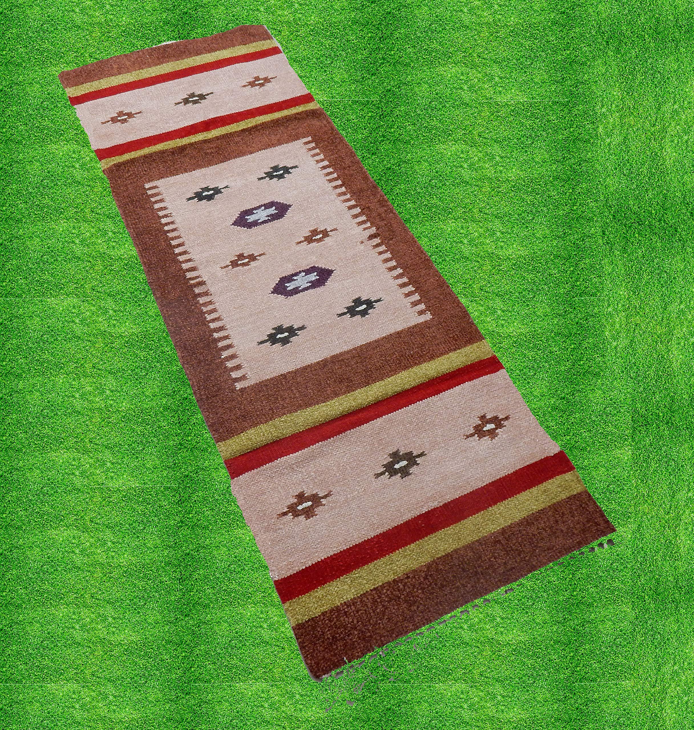 iinfinize - Alfombra de algodón de Seda Tejida a Mano, Alfombra ...