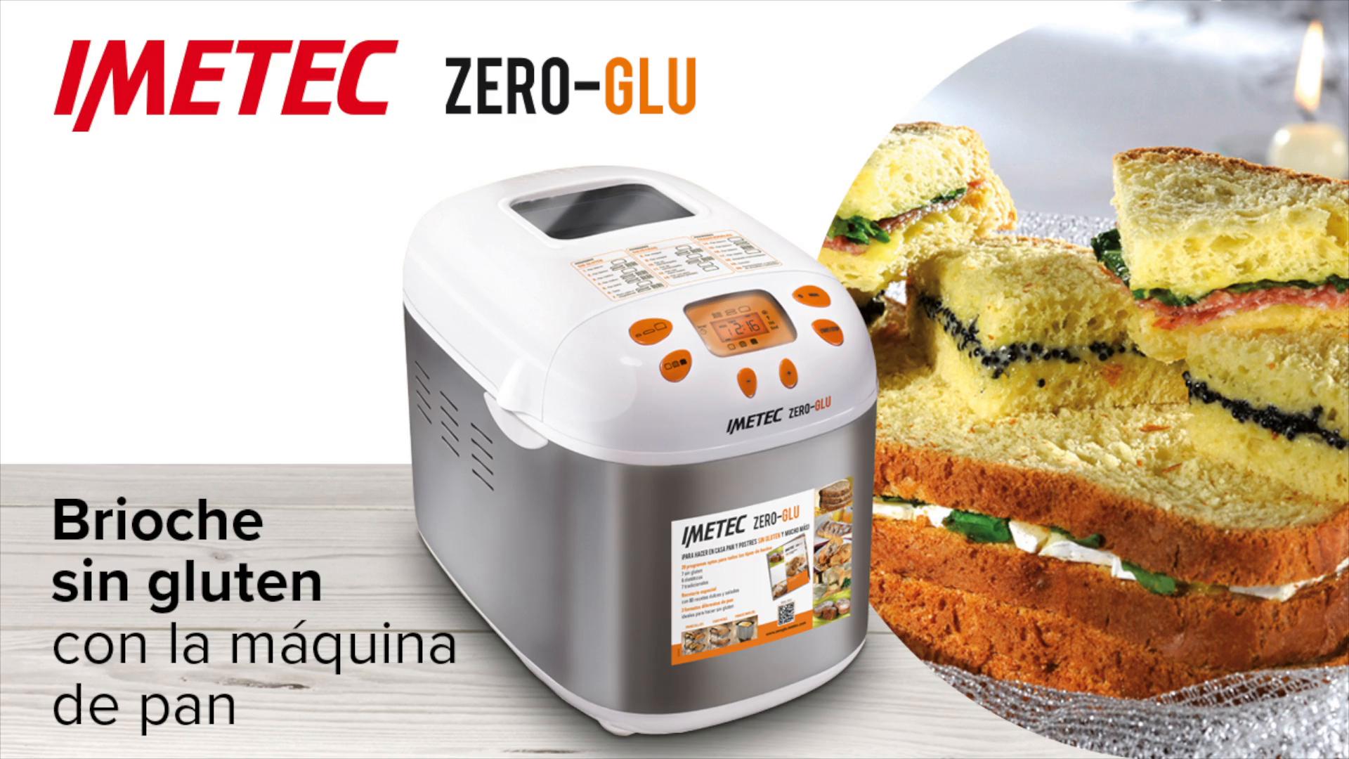 Imetec Zero-Glu - Panificadora, 20 Programas Pan y Dulces, sin Gluten, Accesorios para 3 Formas de Pan, Temporizador Digital, Libro de Cocina, Capacidad 1 kg, Amasar, Levadura y Hornear, 920 vatios: Amazon.es: Hogar