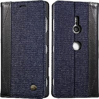 Xperia XZ3 ケース 手帳型 デニム エクスペリア XZ3 ケース SO-01L/SOV39 マグネット カード収納 スタンド