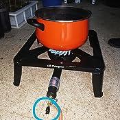 Orbegozo FO 6000 - Hornillo a gas, quemador de hierro fundido, cuerpo de acero esmaltado, diámetro quemador 17 cm, uso en exterior, 7000 W