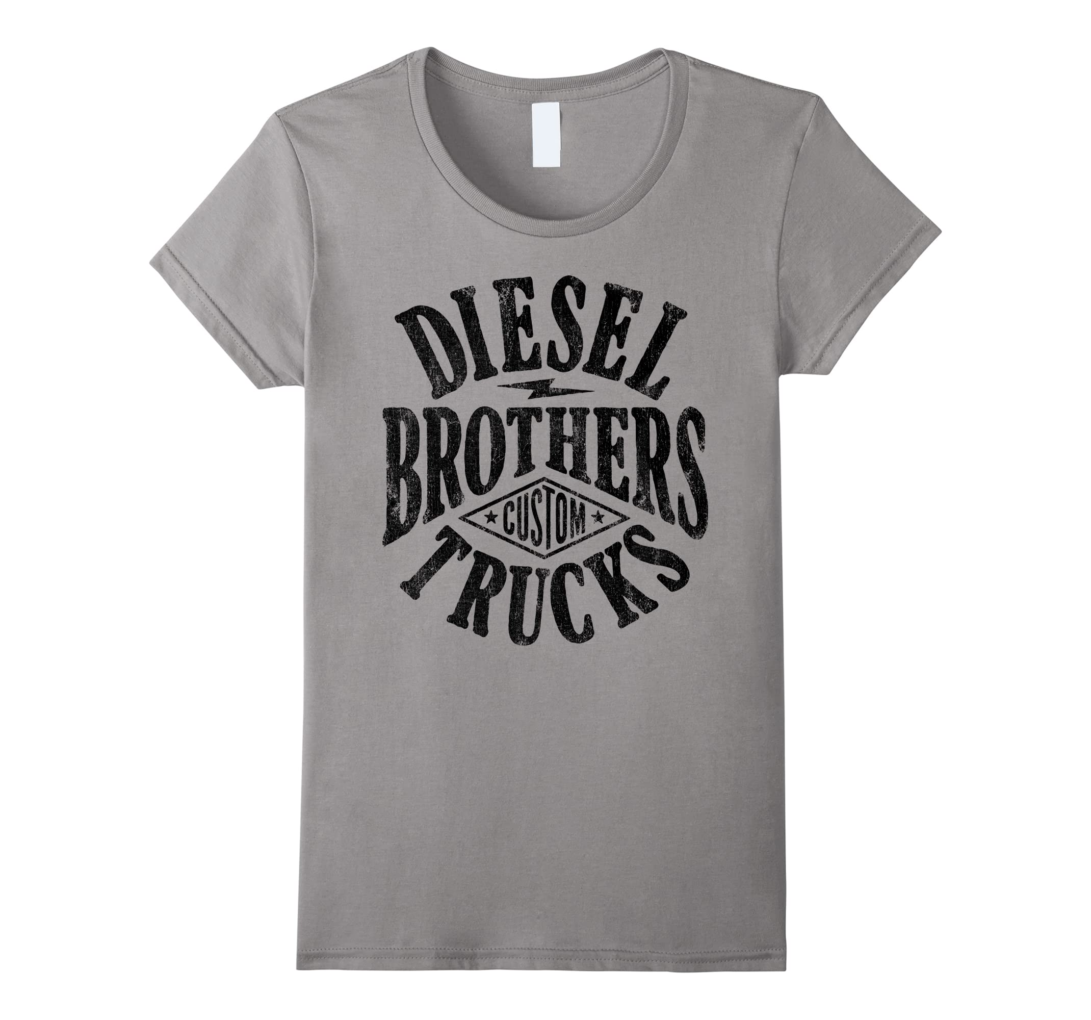 18e48a79 Amazon.com: Diesel Brothers Custom Vintage Black Text Graphic T-Shirt:  Clothing