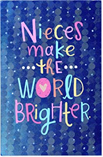 Brighter Birthday Card for Niece with Glitter
