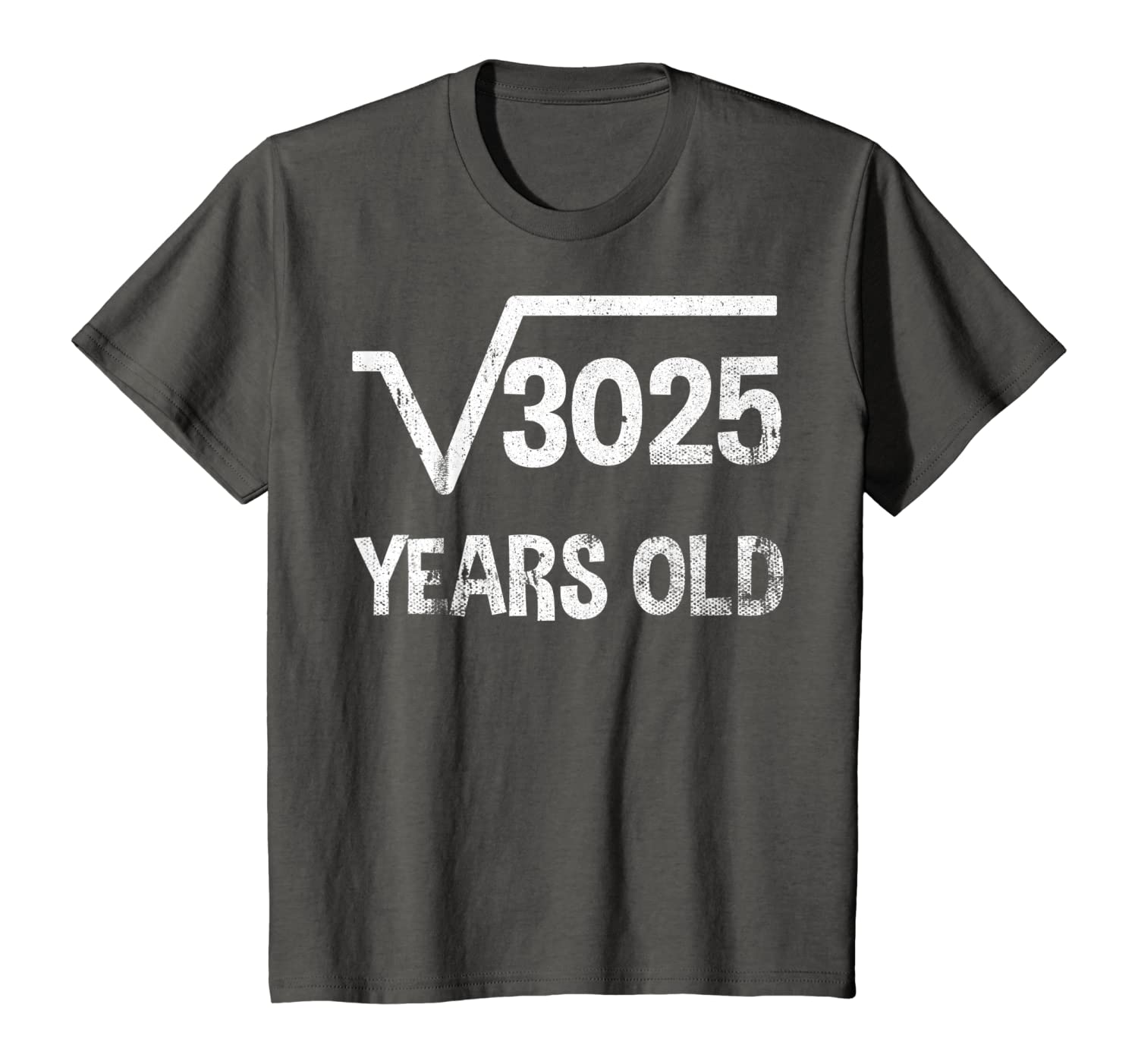 Square Root of 3025 – 55th Birthday T-shirt 55 Years Old T-Shirt-Awarplus