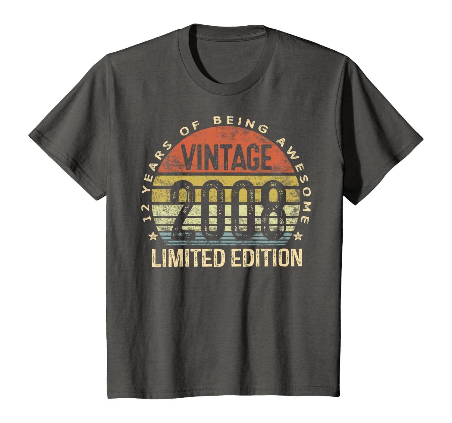12 Year Old Gifts Vintage 2008 Limited Edition 12th Birthday T-Shirt Youth