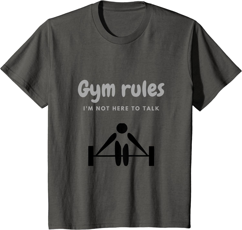 Gym T-Shirt I/'M Not Here Pour Parler Hommes Drôle Haut Entraînement Mma
