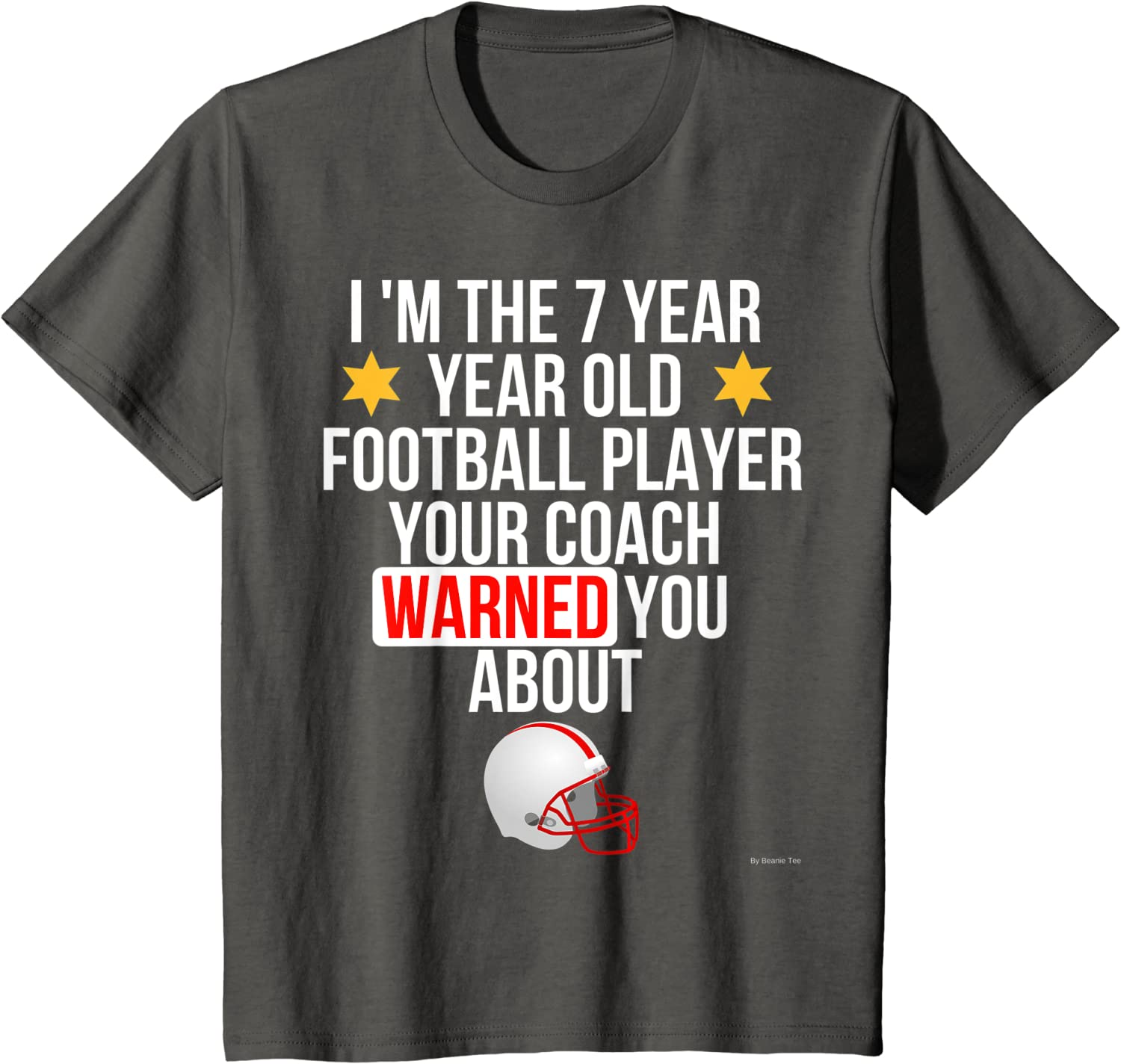 Gift For 7 Year Old Boy 7th Birthday Football Youth Kids T-Shirt Bday