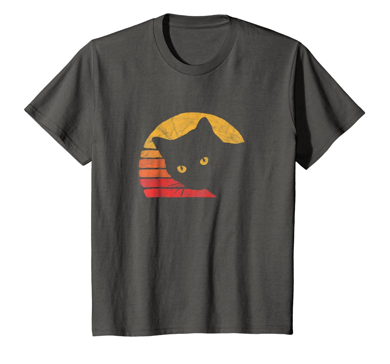 Retro Distressed Design Vintage Eighties Style Cat T-Shirt