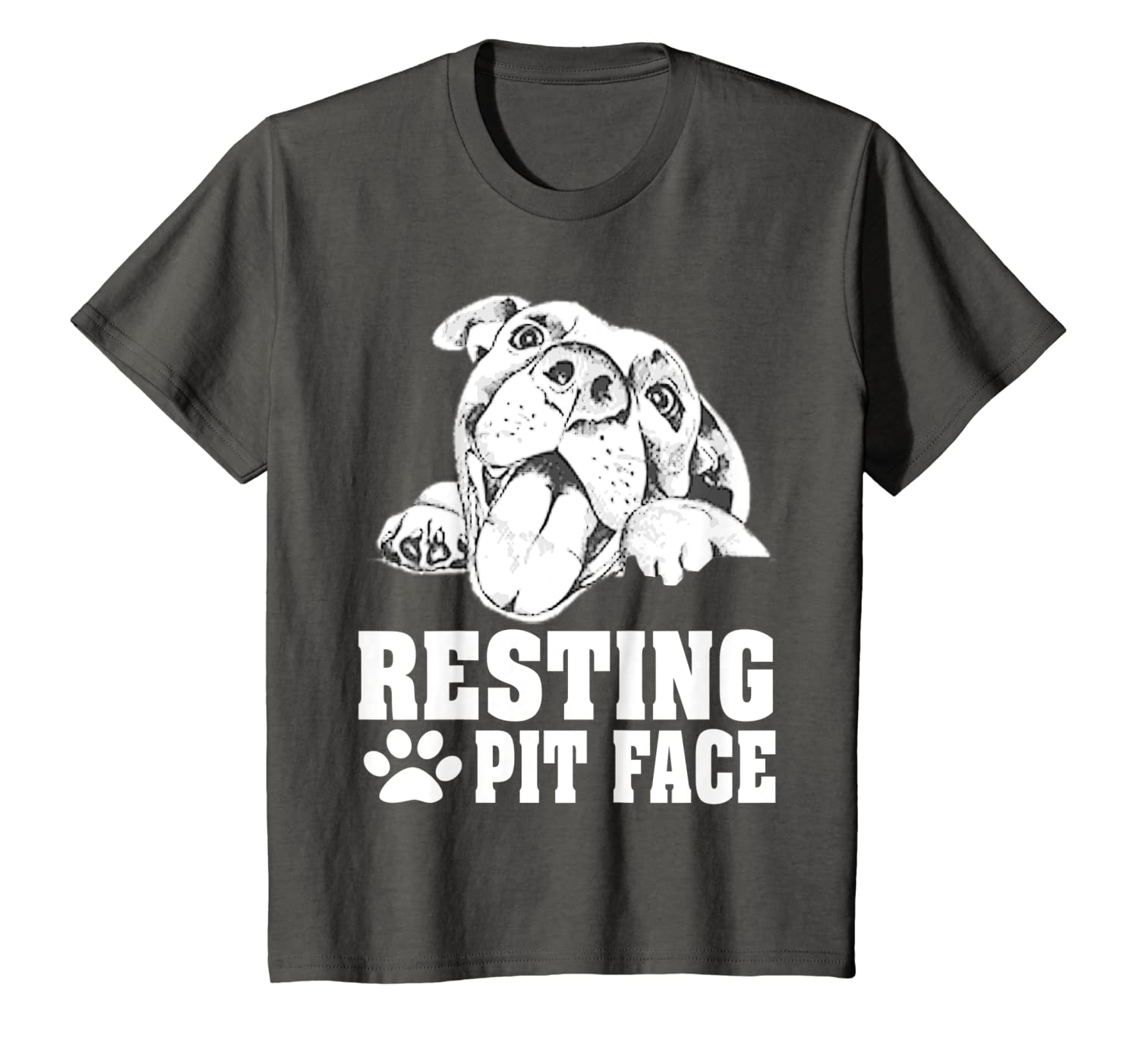 Resting pit face Pitbull funny dogs lovers gift T-Shirt