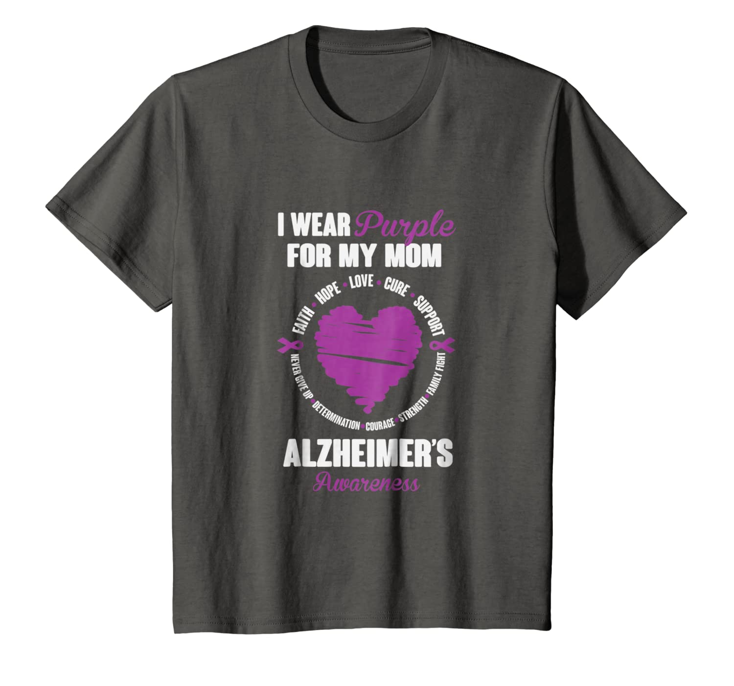 I Wear Purple For My Mom Alzheimers Awareness T-Shirt