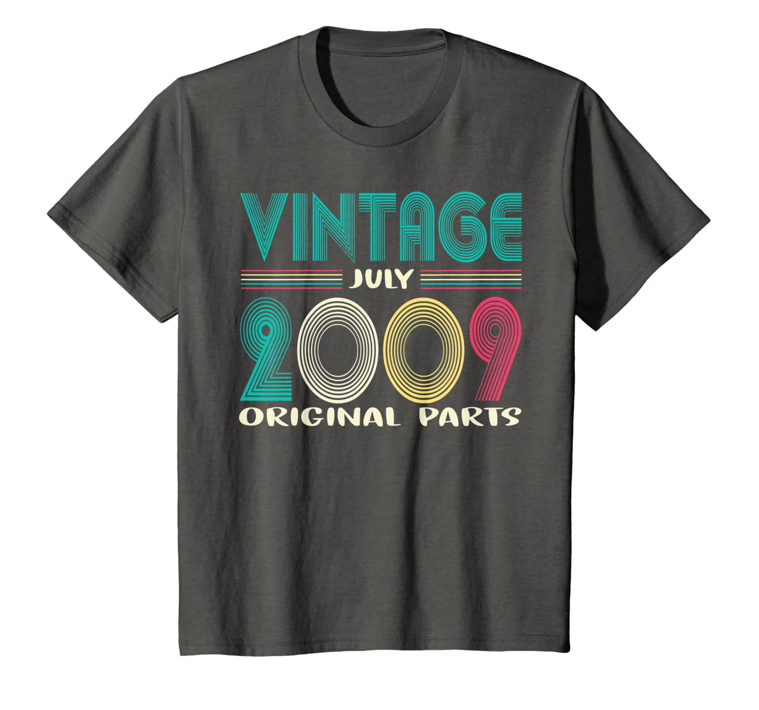 Kids Vintage July 2009 Shirt 10th Gifts Birthday T-Shirt Unisex Tshirt