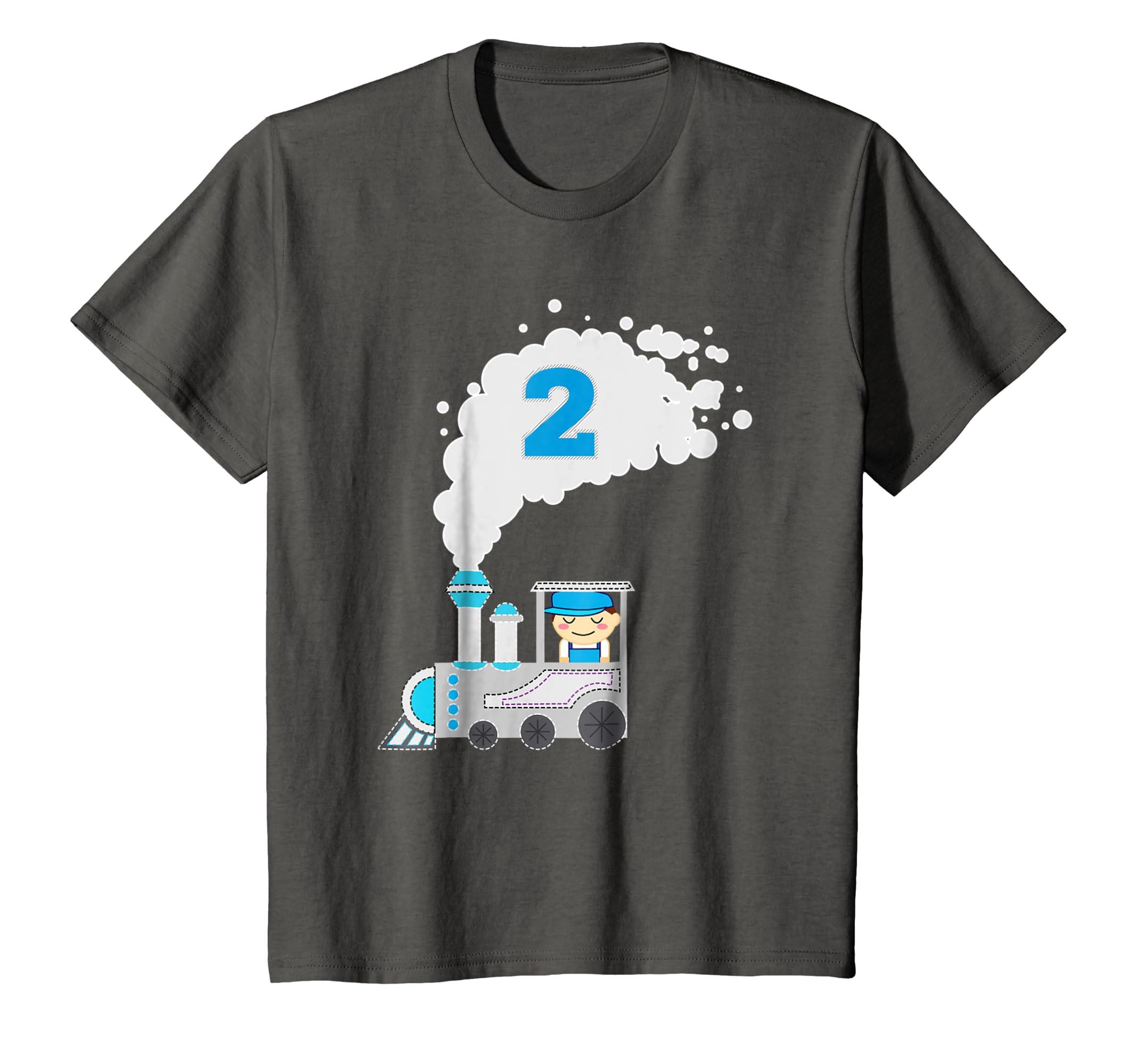 Amazon Kids 2 Year Old Train Birthday Shirt Boys 2nd Birthday