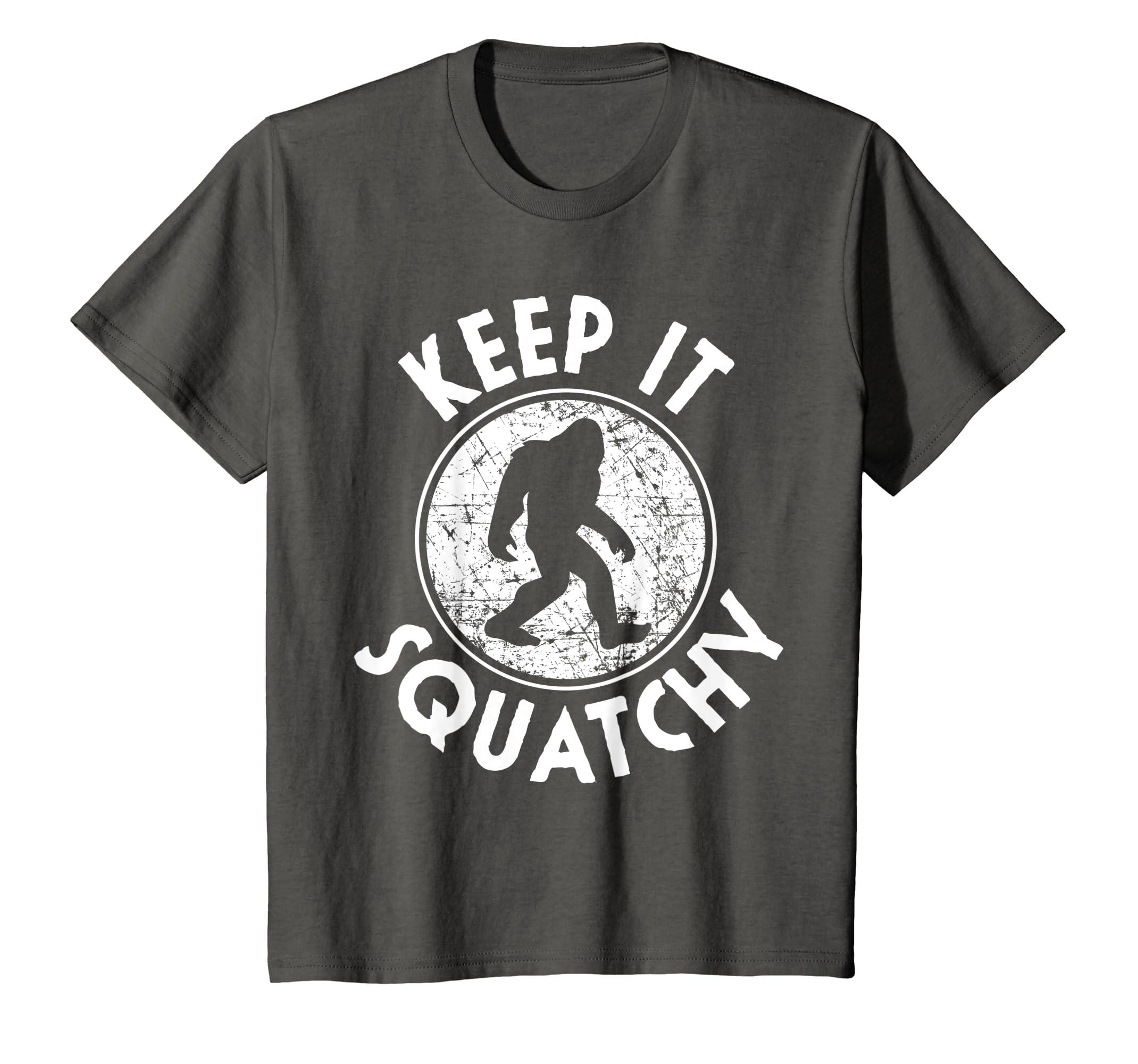 66fc50175 Amazon.com: Keep it Squatchy Bigfoot T-Shirt Funny Sasquatch Gift: Clothing