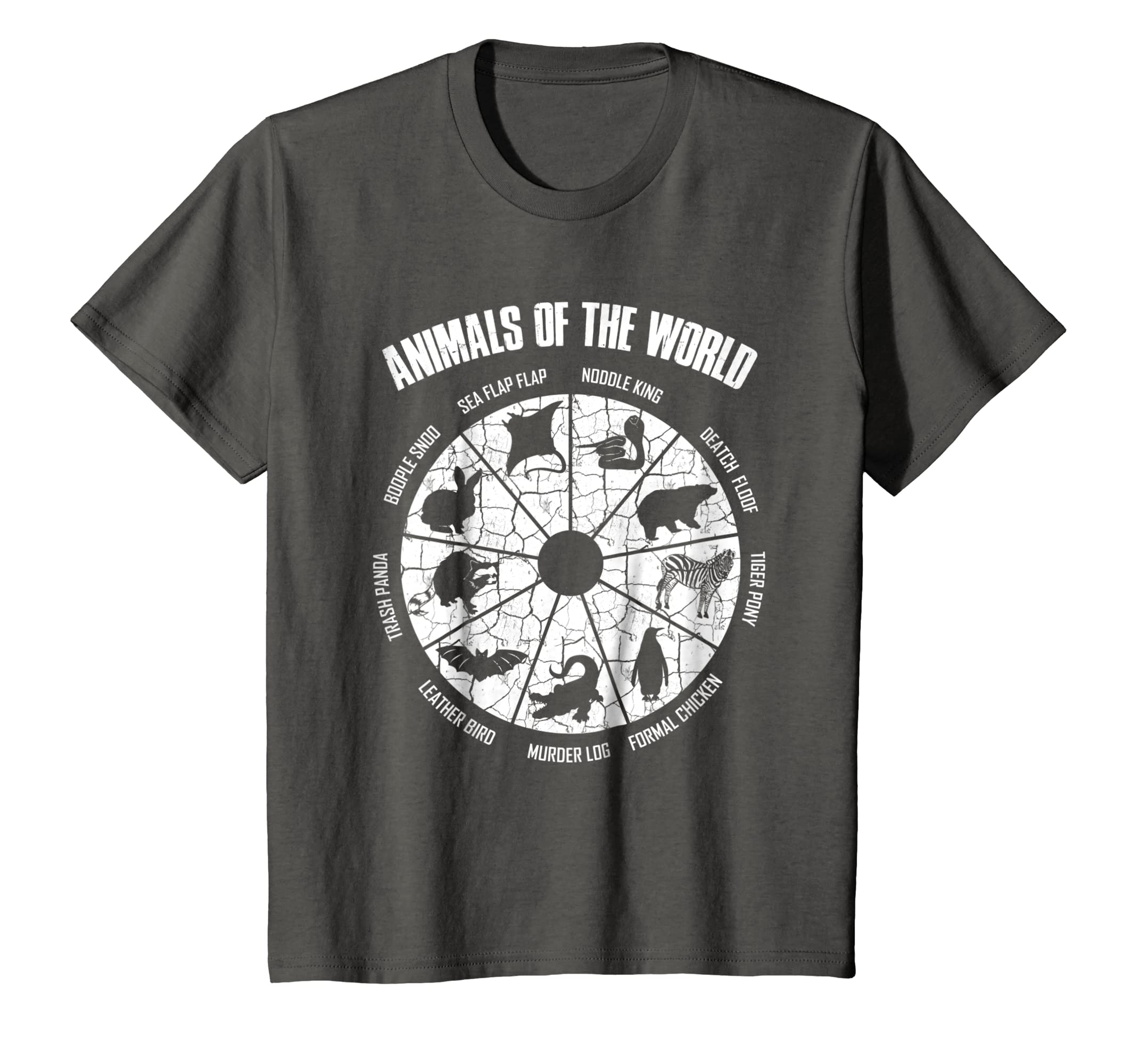 Amazon Simple Vintage Humor Funny Rare Animals of the World T shirt Clothing
