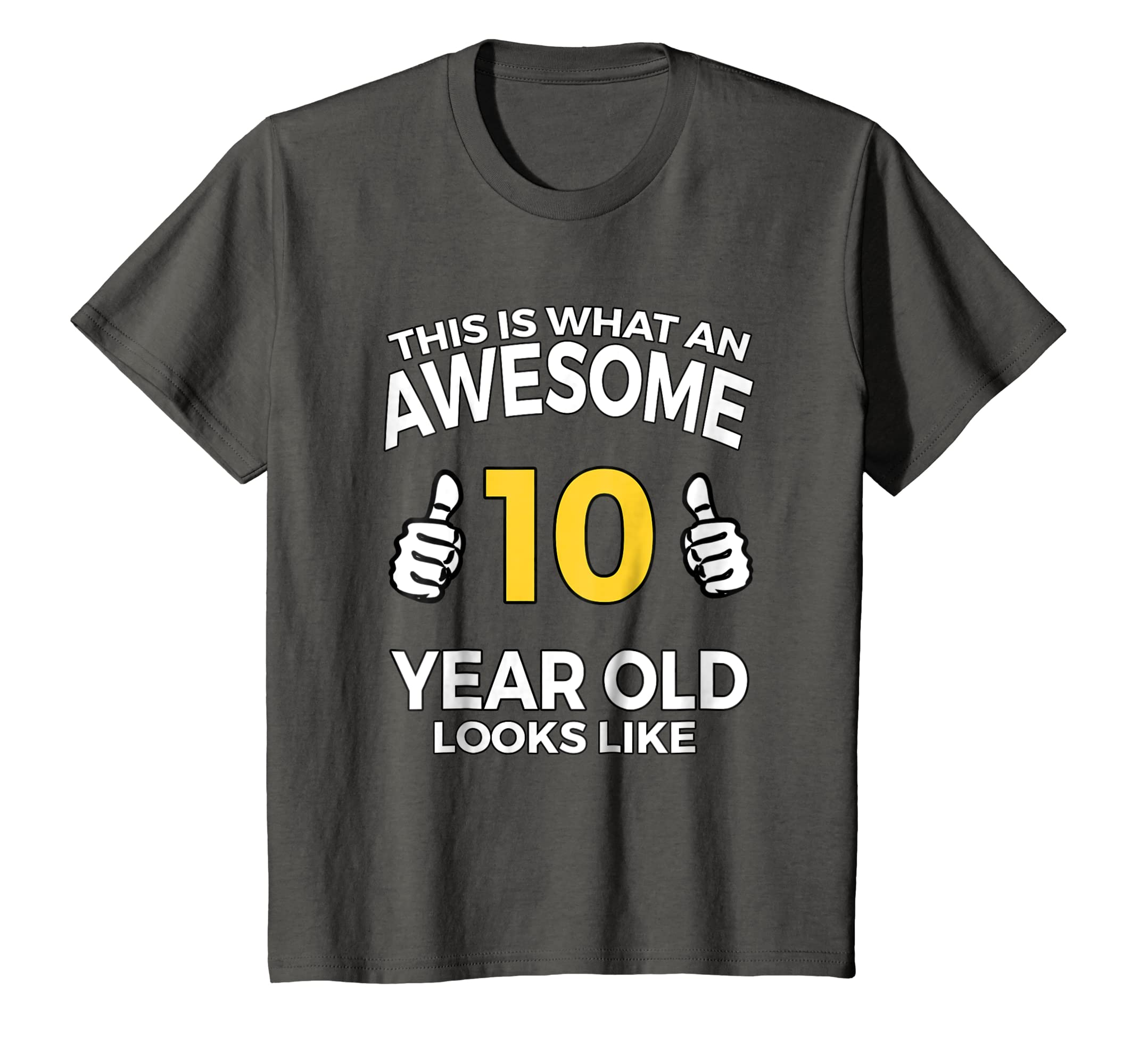 Amazon Kids Awesome 10 Year Old Funny 10th Birthday Gift T Shirt Clothing