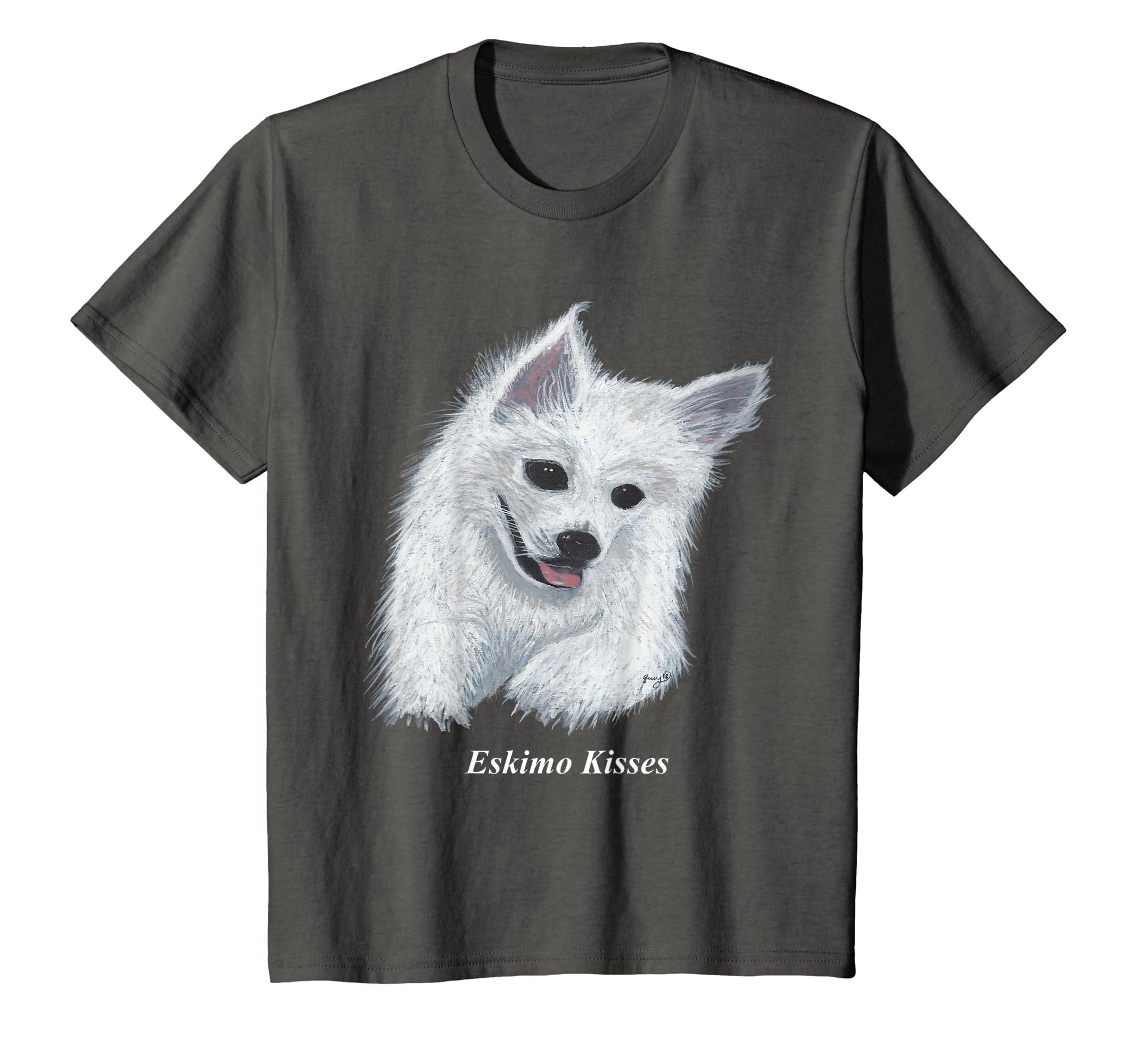 21e9615828bbe Amazon.com: Original American Eskimo Hand Painted Dog T-Shirt: Clothing