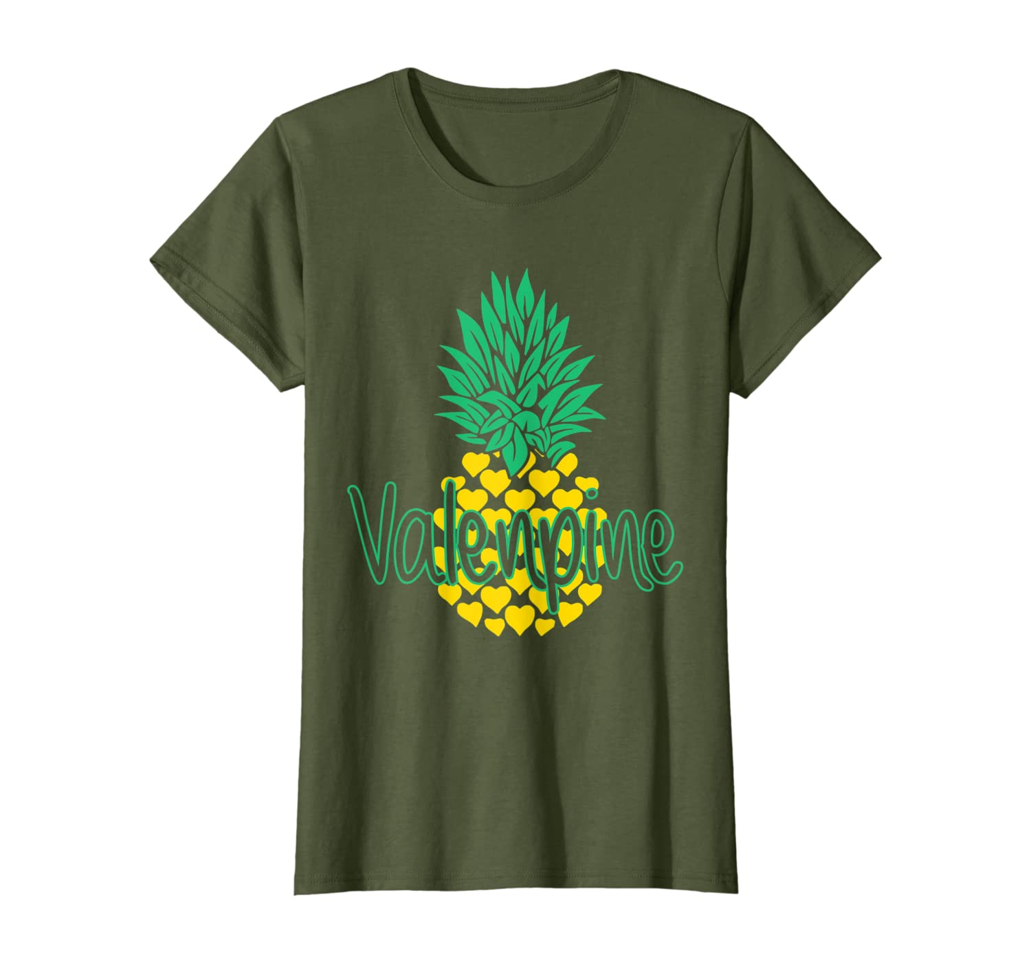 Pineapple Valenpine funny Valentine's Day Gift T-Shirt