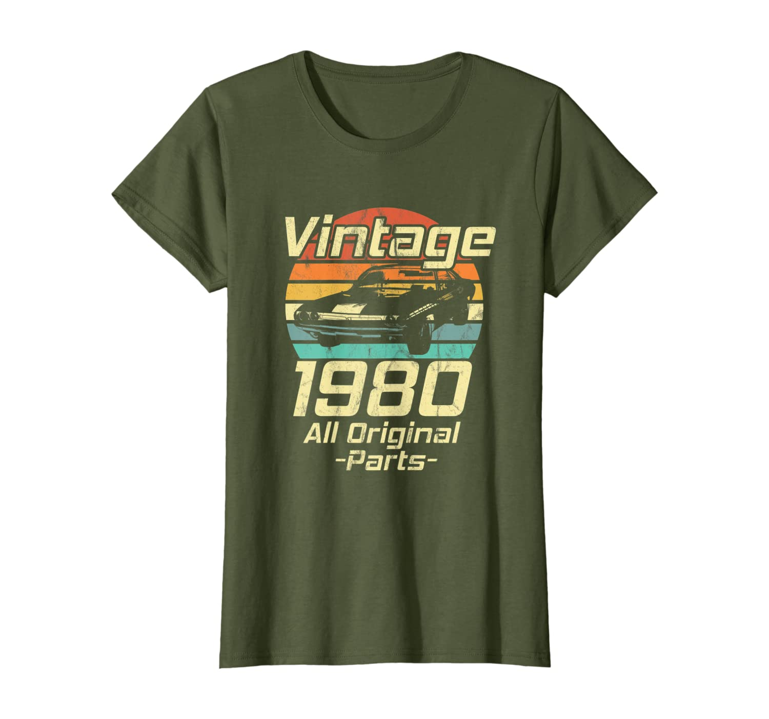 Vintage 1980 39th Birthday Classic Muscle Car Lover Gift T-Shirt