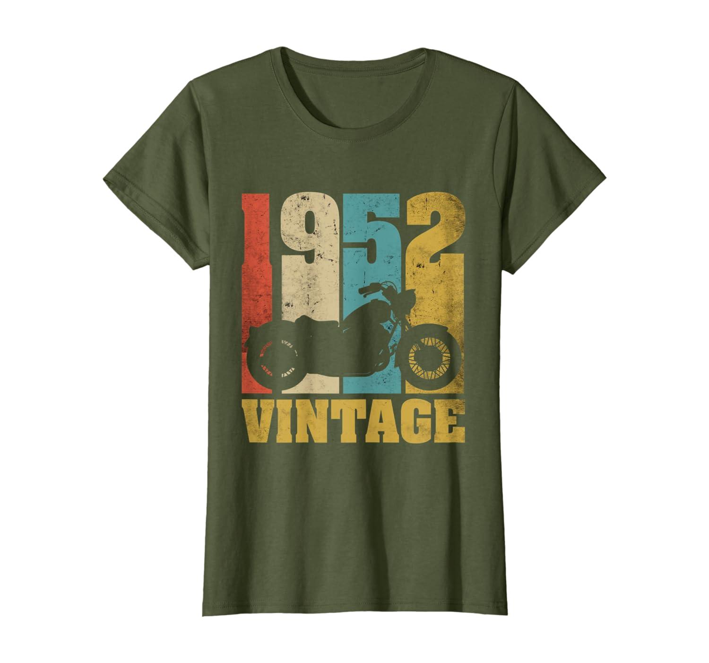 Vintage 1952 Moto T-Shirt 68 Anniversaire Cadeau Motard T-Shirt