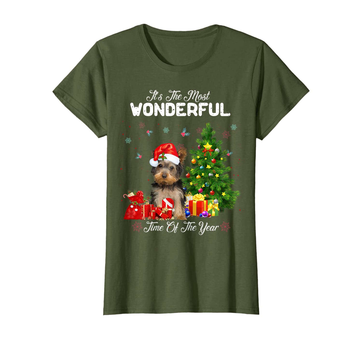 The Most Wonderful Time Of Year Morkie Christmas T-Shirt