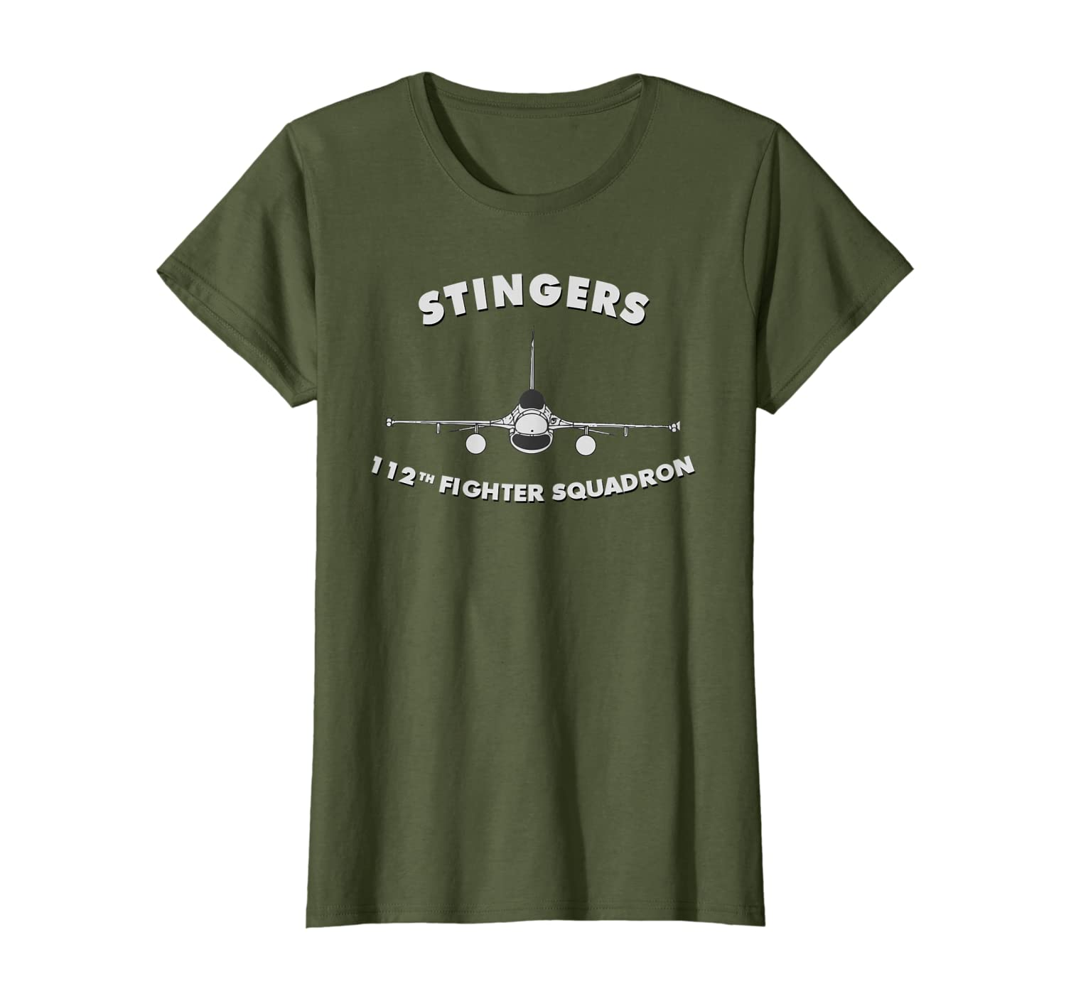 112th Fighter Squadron The Stingers F-16 T-shirt