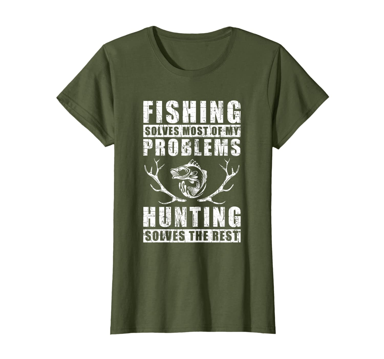 Fishing Solves Most Of My Problems Hunting Quote Gift T-Shirt SweatShirt