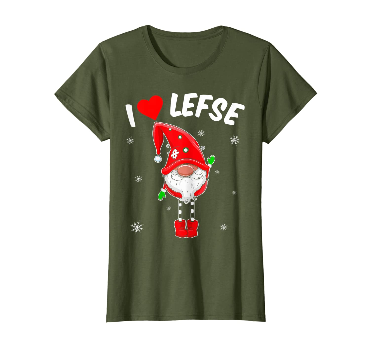 Lefse Tomte Gnome Christmas Scandinavian Gnome Baking tee T-Shirt-TH