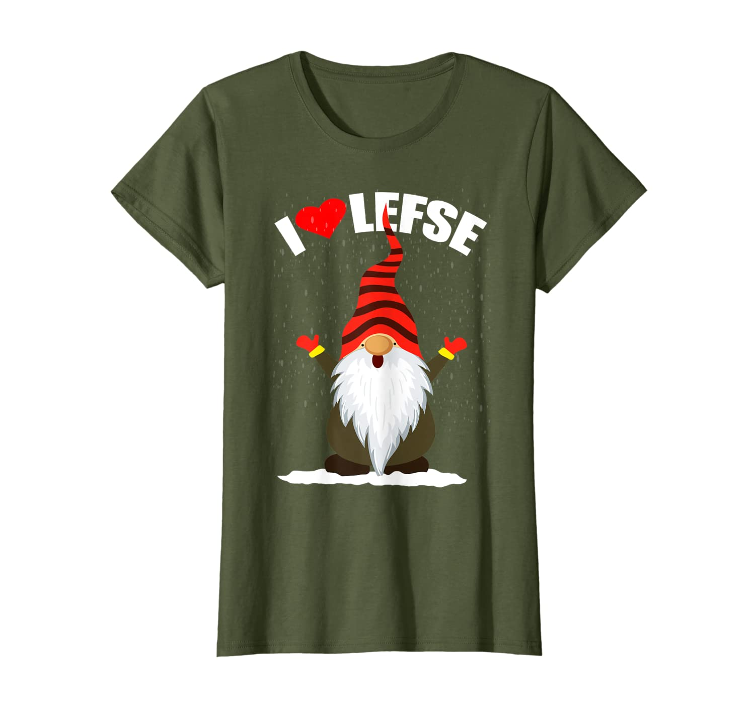 Lefse Tomte Gnome Christmas Gift Scandinavian Gnome Baking T-Shirt-TH