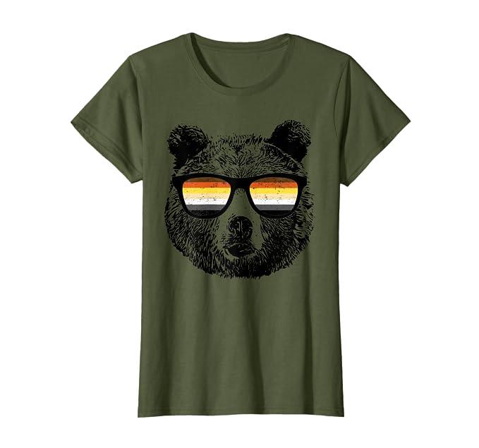 Amazon.com: Gay oso de peluche con anteojos de sol playera ...
