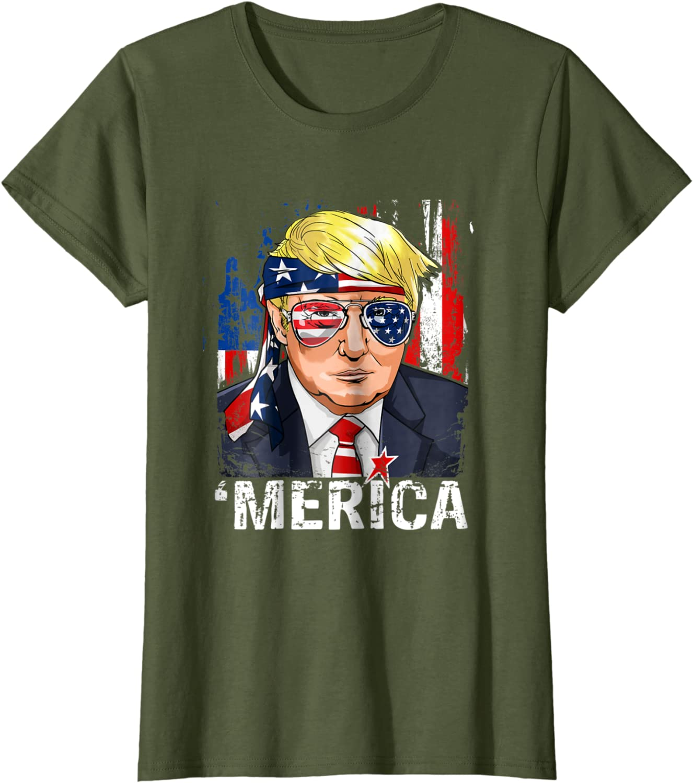 Donald Trump Murica 4th of July Patriotisch Amerika USA Lustiges Herren T-Shirt