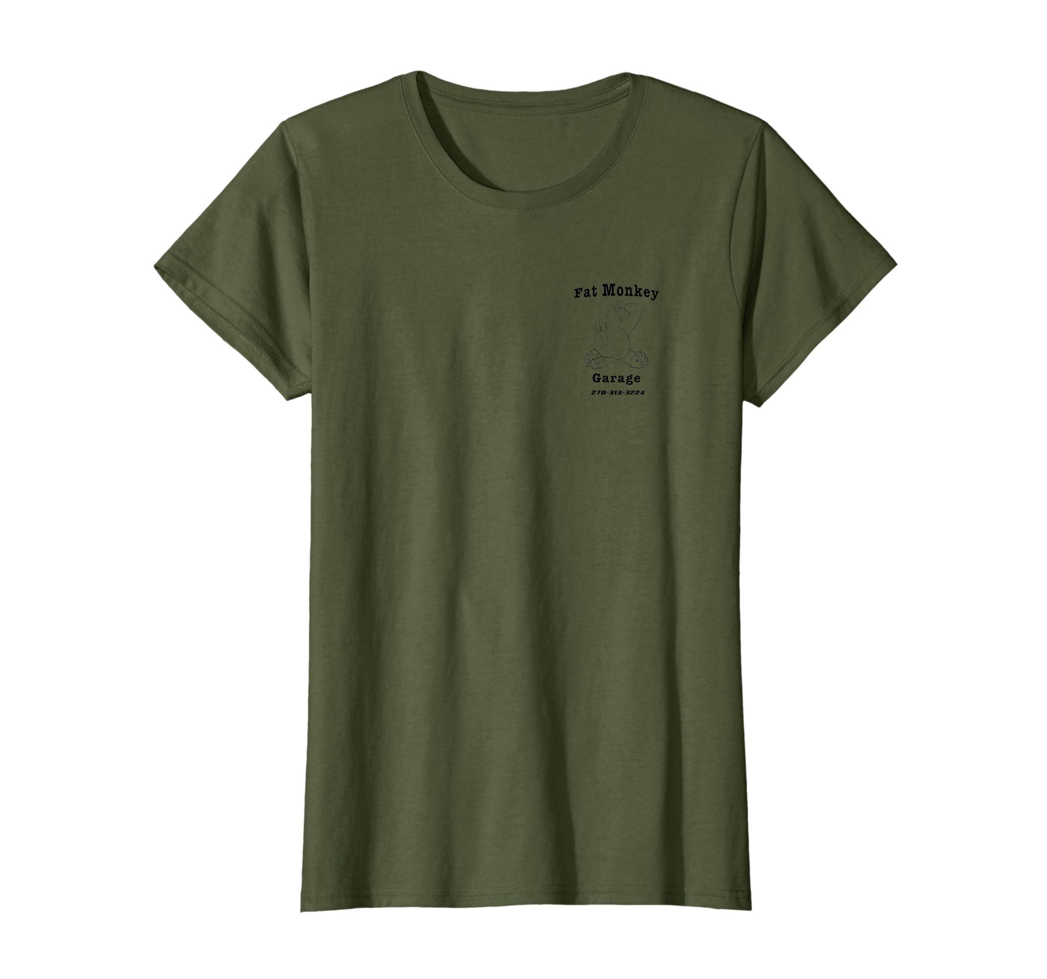 28c6cd4dd8f63 Amazon.com: Fat Monkey Garage Gorilla Mechanic T-shirt: Clothing