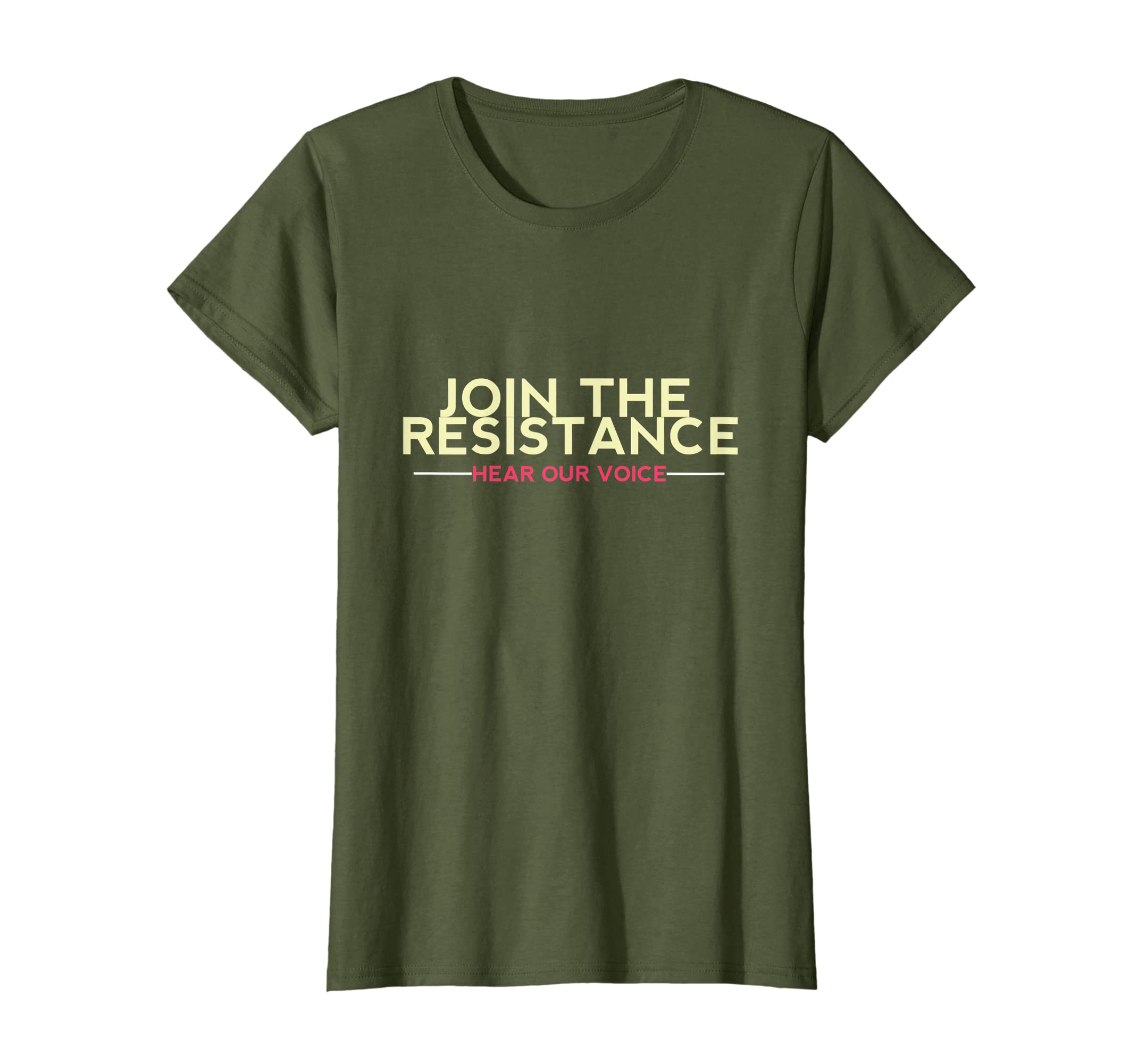 Amazon.com: Join The Resistance Hear Our Voice Womens Rights T-Shirt: Clothing