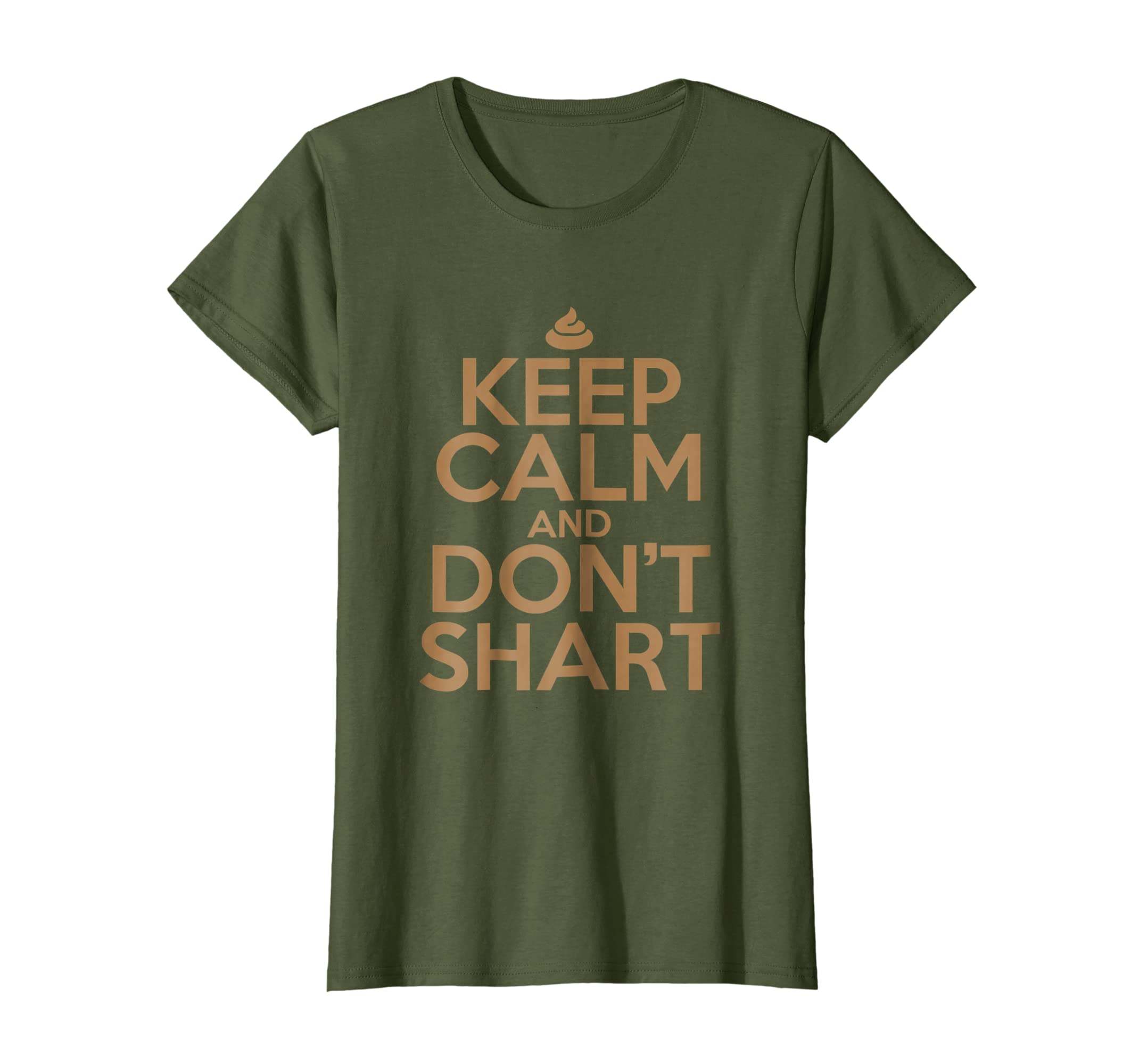4c2aa0bbb Amazon.com: Adult Content Shirts Keep Calm Don't Shart Funny Shit Tees:  Clothing