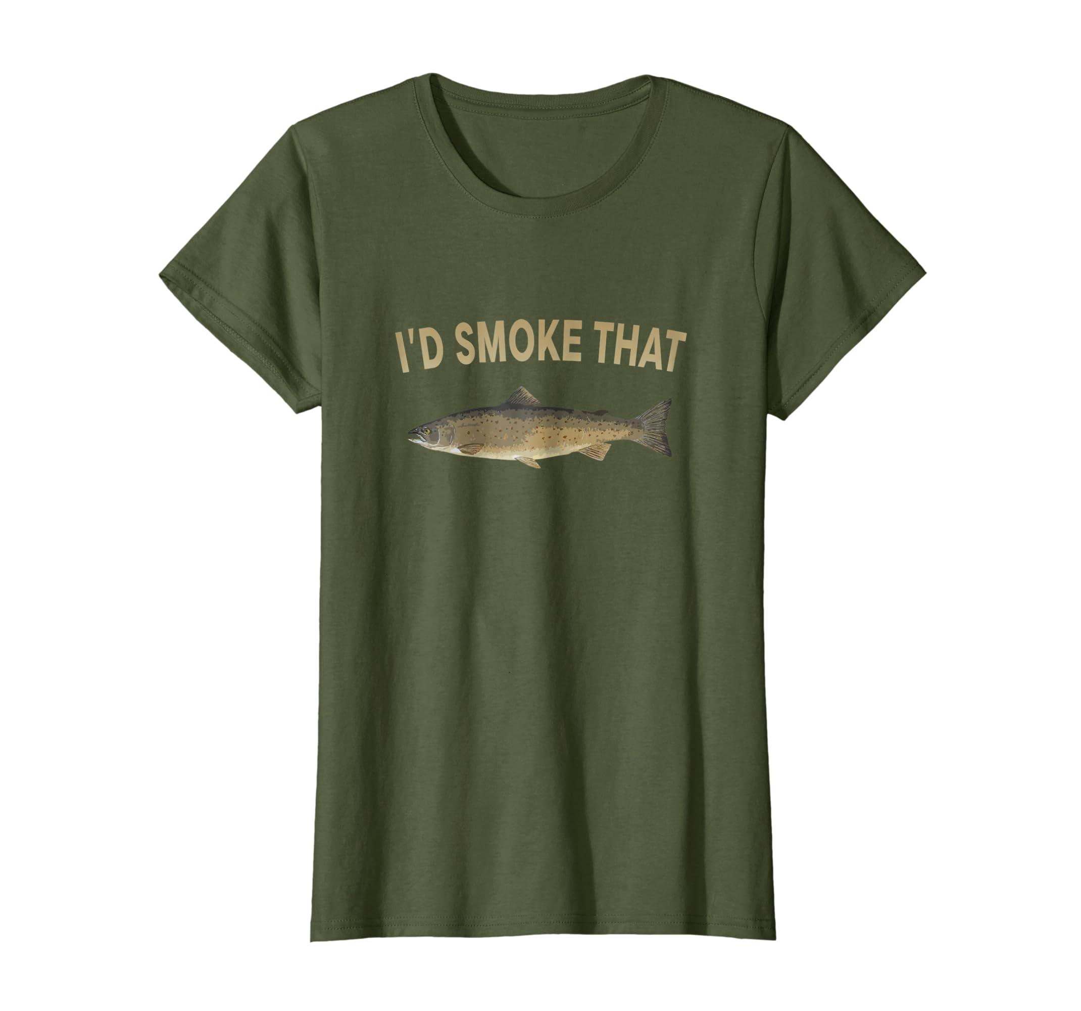 I'd Smoke That Salmon Fishing Funny Barbecue Shirts-Colonhue
