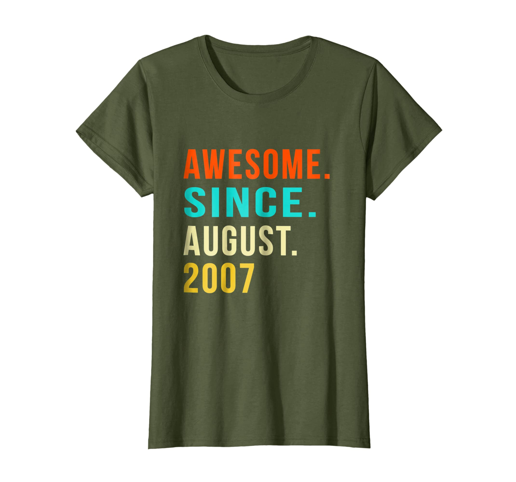 Born in August 2007 11th Birthday Gift 11 years old T Shirt-Newstyleth
