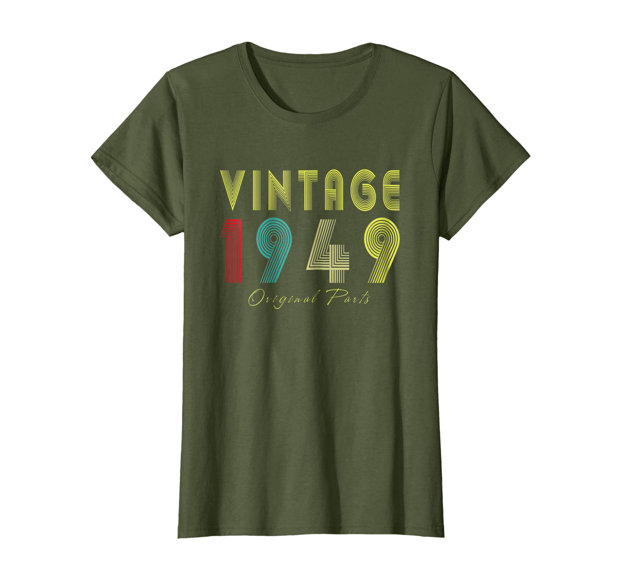 Amazon Vintage 1949 Original Parts Tee 70th Birthday Gifts T Shirt Clothing