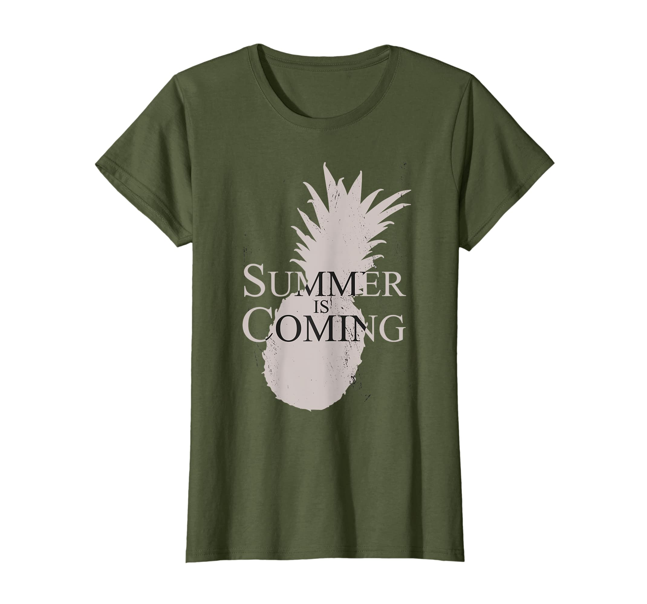 Summer Is Coming TShirt Summer Vacation Pineapple Gift T-Shirt-Protee
