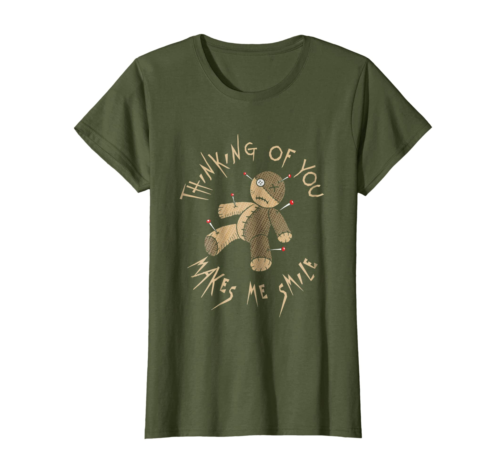 Funny Voodoo Doll Thinking of You Makes Me Smile t shirt-Awarplus